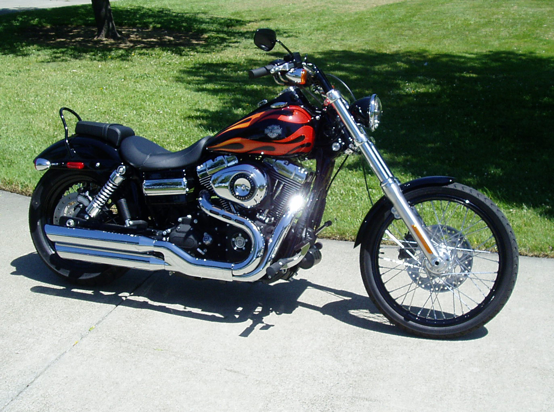 Harley Davidson Wide Glide Old School Chopper Harley